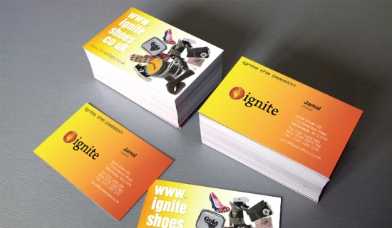 Ignite Shoes Business Cards