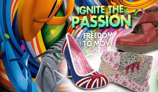 Ignite Shoes and Bags in Motion Banner