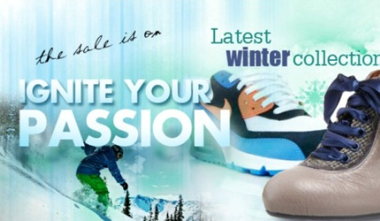 Ignite Shoes Winter Sale Banner
